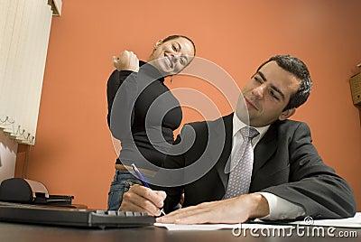 Businessman and Secretary - Horizontal