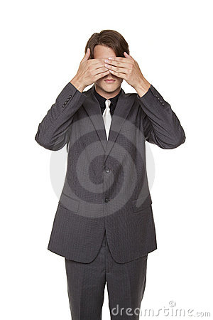 Businessman - see no evil