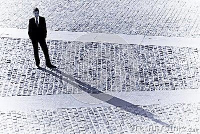 Businessman shadow