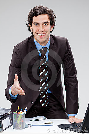 Businessman shaking hands