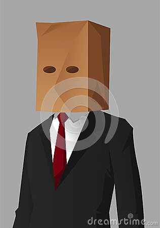 Businessman shame Cartoon Illustration