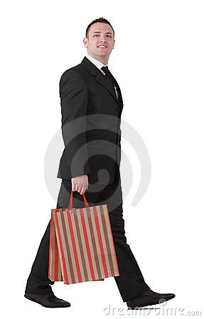 Businessman shopping