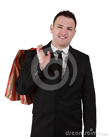 Businessman with shopping bag