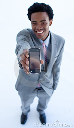 Free Businessman Showing A Mobile Phone Stock Photo - 11371760