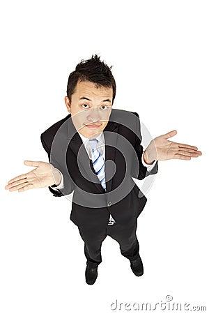 businessman shrugging