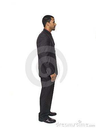 Businessman - side view