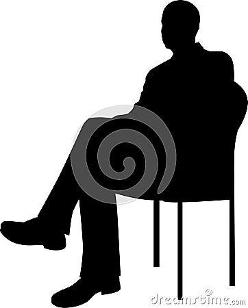 Businessman Sitting Silhouette