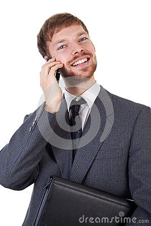 Businessman with smart phone