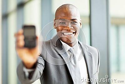 Businessman smart phone