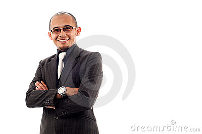Businessman smile with confident