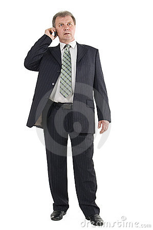Businessman Speak On The Phone Stock Images - Image: 14954884