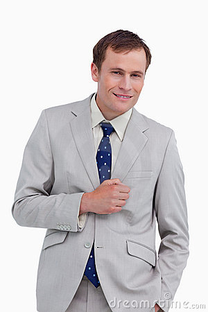 Businessman standing with hand in his pocket