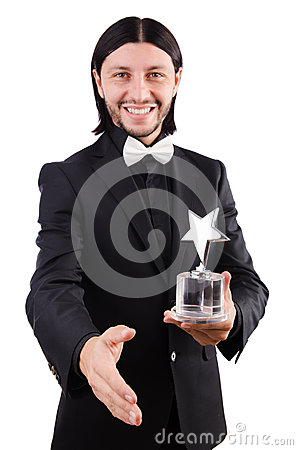 Businessman with star award