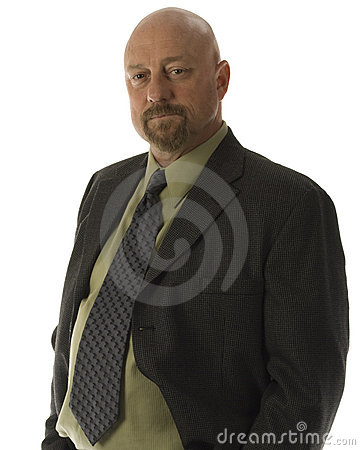 businessman staring at the camera isolated
