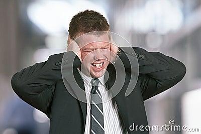 Businessman stress