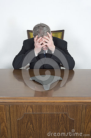 Businessman Stress Conference Telephone