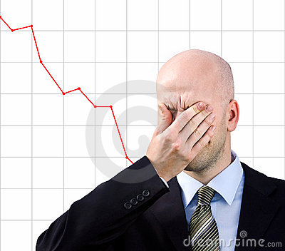 Businessman  suffers from a headache
