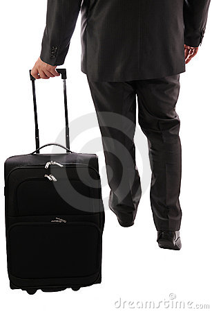 Businessman with suitcase