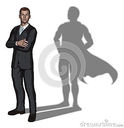 Free Businessman Superhero Concept Stock Photos - 19720543