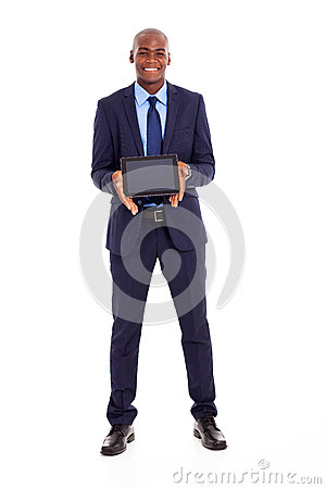 Businessman tablet computer