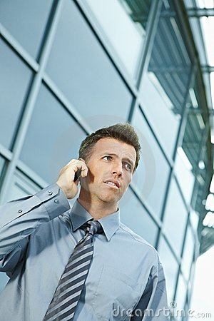 Free Businessman Talking On Phone Royalty Free Stock Photos - 11605508