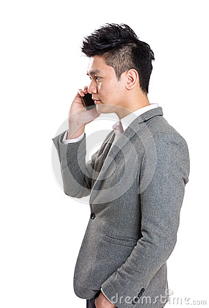 Free Businessman Talking To Mobile Stock Photography - 40657792