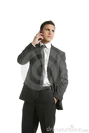 Free Businessman Talking With Cell Mobile Phone Stock Image - 8683431