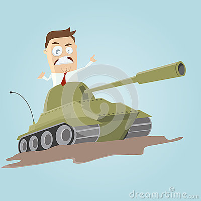 Businessman in a tank