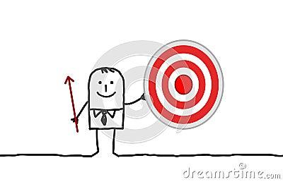 Businessman & target