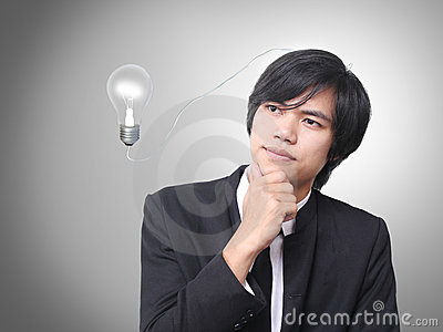 Businessman think idea