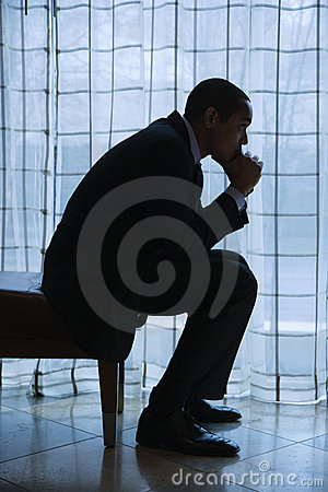 Free Businessman Thinking Stock Photography - 12738822