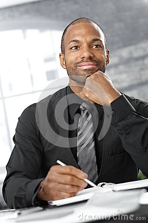 Free Businessman Thinking Stock Image - 27116371