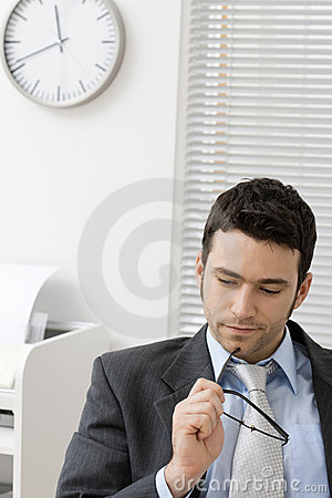 Free Businessman Thinking Royalty Free Stock Image - 8489676