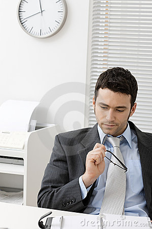 Free Businessman Thinking Stock Photo - 8659100