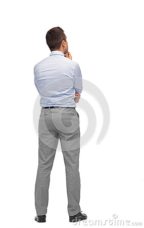 Free Businessman Thinking From Back Stock Images - 52410744