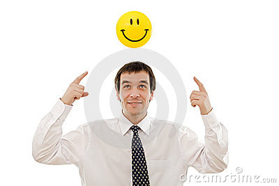 Businessman thinking positive