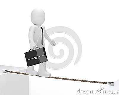 Businessman to balance