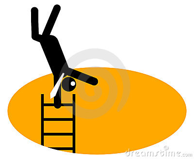 Businessman On Top Of Corporate Ladder Royalty Free Stock Image - Image: 12451666