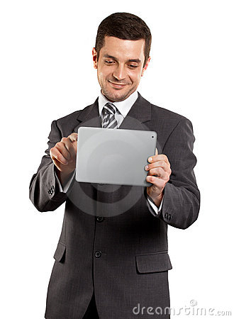 Businessman With touch Pad