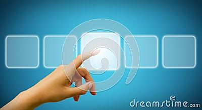 Businessman touching digital screen