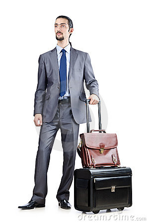Businessman on  travel days