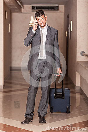 Businessman with Trolley
