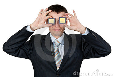Businessman turned a blind eye two processors