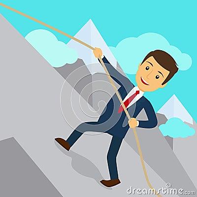 Free Businessman Uphill Climb Royalty Free Stock Photos - 73670298