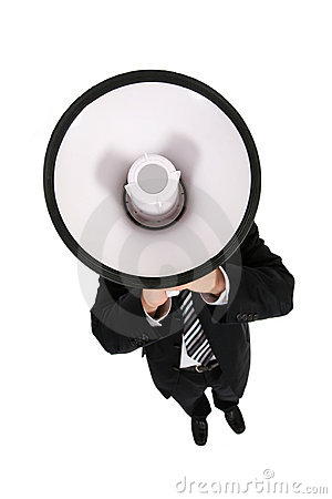 Businessman Using a Megaphone