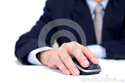 Businessman using a mouse