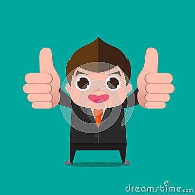 Businessman Very Good Cartoon Stock Vector - Image: 40219316