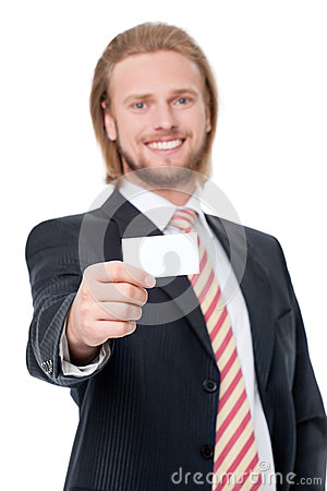 Businessman with visit card