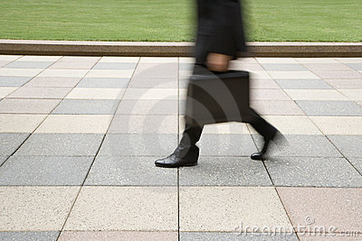 Businessman walking.