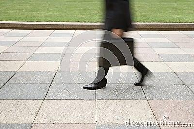 Businessman walking.